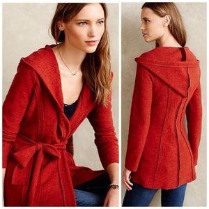 { Anthropologie } Boiled Wool Wrap Jacket